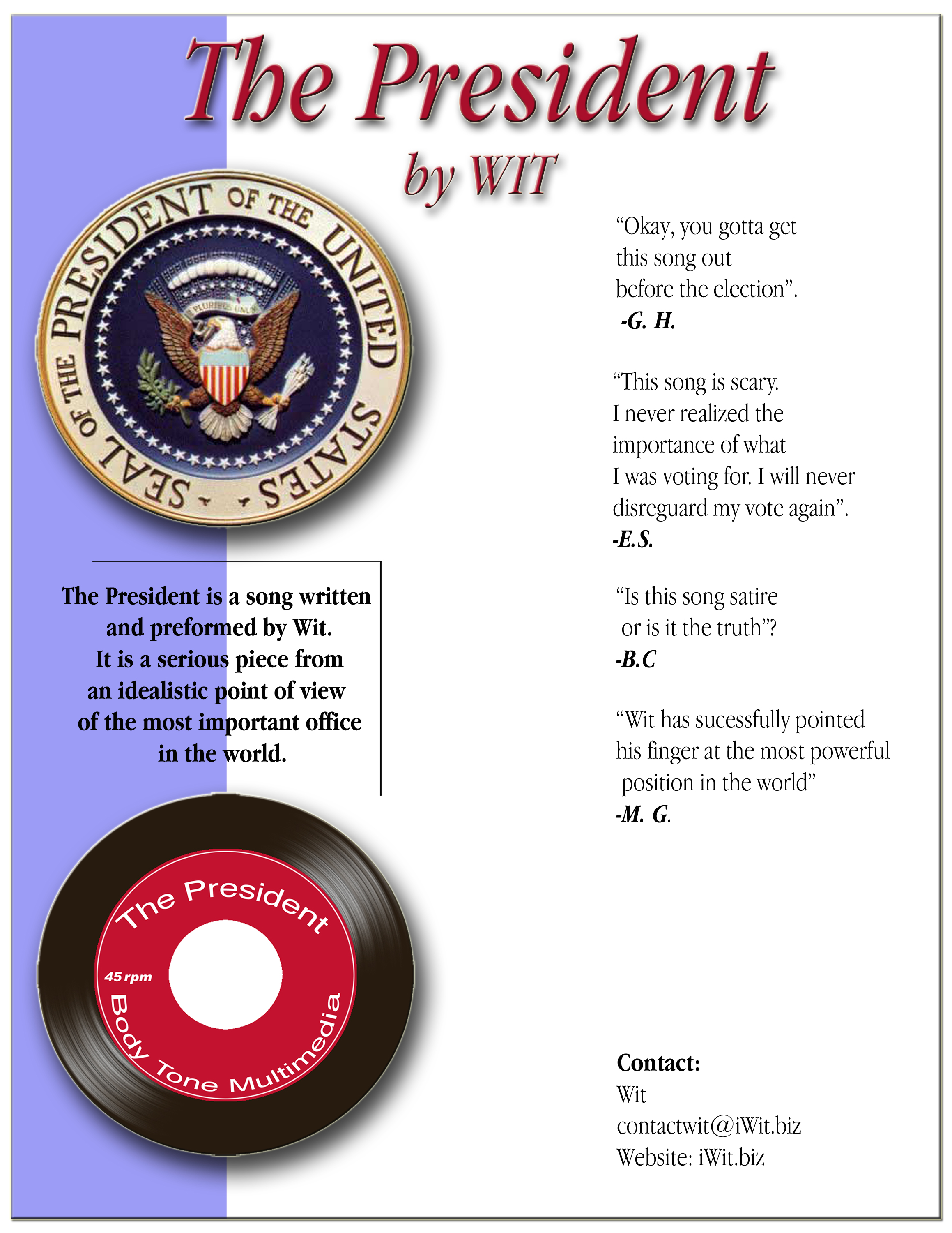 The President one sheet