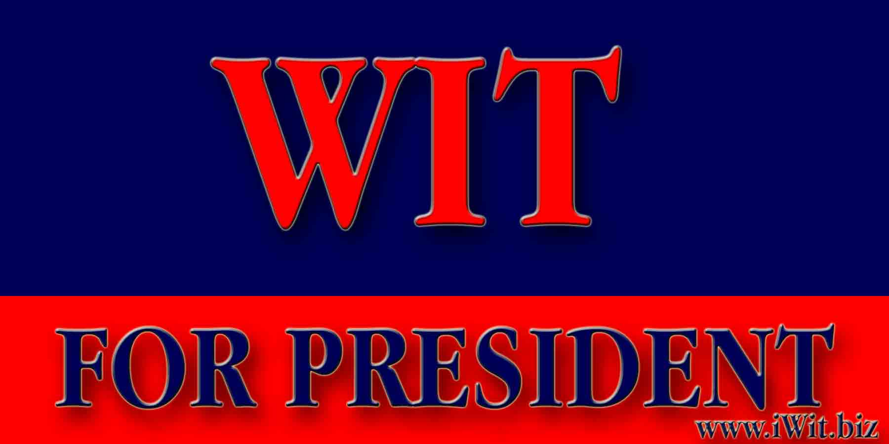 The President by Wit  Bumpersticker 4